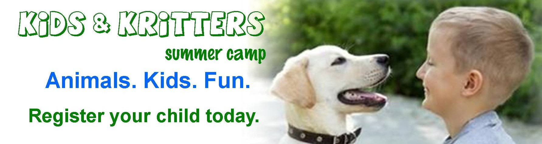Kids & Kritters Summer Camp 2019 - Banner